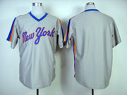 Mens mlb new york mets (blank) gray throwbacks Jersey