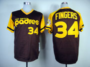 Mens mlb san diego padres #34 fingers coffee (yellow) throwbacks Jersey