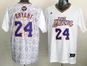 Mens Nba Los Angeles Lakers #24 Bryant (2014 Noche Latina) White Jersey