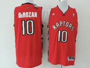 Mens Nba Toronto Raptors #10 Derozan Red (new Mesh) Jersey