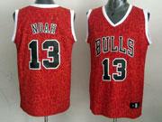 Mens Nba Chicago Bulls #13 Noah Red Leopard Grain Jersey