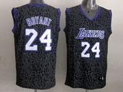 Mens Nba Los Angeles Lakers #24 Bryant Black Leopard Grain Jersey