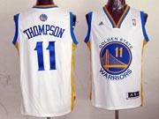 mens nba Golden State Warriors #11 Klay Thompson white revolution 30 jersey (p)