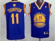 mens nba Golden State Warriors #11 Klay Thompson blue revolution 30 jersey (p)