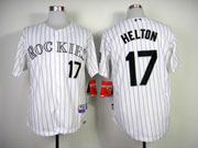 Mens mlb colorado rockies #17 helton white(article purple) Jersey