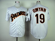 Mens mlb san diego padres #19 gwynn white(black stripe)throwbacks (2014 new) Jersey