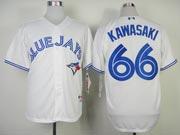 Mens mlb toronto blue jays #66 kawasaki white 2012 new style Jersey