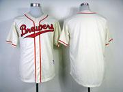 Mens Mlb Milwaukee Brewers (biank) 1948 Cream Turn Back Jersey