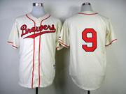 Mens Mlb Milwaukee Brewers #9 Segura 1948 Cream Turn Back Jersey(no Name Red Number)