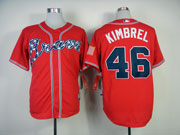 Mens Mlb Atlanta Braves #46 Kimbrel Red(2014 New) Jersey(cool Base)