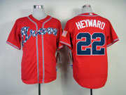 Mens Mlb Atlanta Braves #22 Heyward Red(2014 New) Jersey(cool Base)