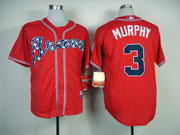 Mens Mlb Atlanta Braves #3 Murphy Red(2014 New) Jersey(cool Base)