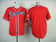 Mens Mlb Atlanta Braves (blank) Red(2014 New) Jersey(cool Base)