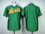 Mens mlb new york mets (blank) green 1985 throwbacks Jersey