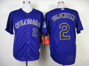 Mens mlb colorado rockies #2 tulowitzki purple Jersey