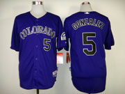 Mens mlb colorado rockies #5 gonzalez purple Jersey