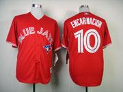 Mens Mlb Toronto Blue Jays #10 Encarnacion Red Jersey