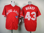 Mens Mlb Toronto Blue Jays #43 Dickey Red Jersey