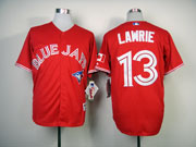 Mens Mlb Toronto Blue Jays #13 Lawrie Red Jersey