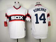 Mens Mlb Chicago White Sox #14 Konerko White Pullover Jersey