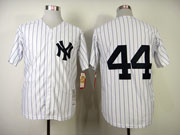 Mens Mlb New York Yankees Custom Made White Throwbacks Jersey
