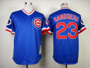 Mens mlb chicago cubs #23 sandberg blue(1984 throwbacks) Jersey