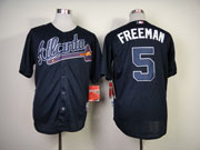 Mens mlb atlanta braves #5 freeman dark blue cool base Jersey