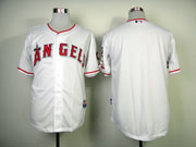 Mens mlb los angeles angels blank white Jersey