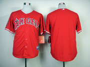 Mens mlb los angeles angels bank red Jersey