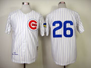 Mens Mlb Chicago Cubs #26 Williams White 1969 Throwbacks Jersey (no Name)