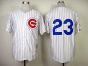 Mens Mlb Chicago Cubs #23 Sandberg White 1984 Throwbacks Jersey (no Name)