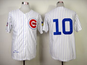 Mens Mlb Chicago Cubs #10 Santo White 1969 Throwbacks Jersey (no Name)
