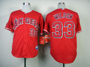 Mens mlb los angeles angels #33 wilson red Jersey
