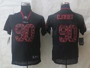 youth nfl Houston Texans #99 JJ Watt black (lights out team logo number) elite jersey