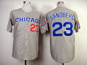 Mens mlb chicago cubs #23 sandberg gray 1990 throwbacks Jersey