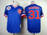 Mens Mlb Chicago Cubs #31 Maddux Blue Throwbacks Jersey
