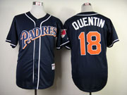 Mens mlb san diego padres #18 quentin blue (red name) Jersey