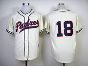 Mens mlb san diego padres #18 quentn cream (no name) Jersey