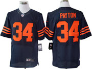 mens nfl Chicago Bears #34 Walter Payton blue (orange number) elite jersey