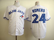 Mens mlb toronto blue jays #24 romero white Jersey