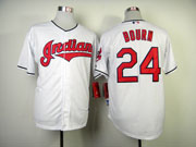 Mens mlb cleveland indians #24 bourn cream Jersey