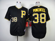 Mens Mlb Pittsburgh Pirates #38 Pimentel Black Cool Base Jersey