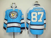 youth reebok nhl pittsburgh penguins #87 sidney crosby blue Jersey