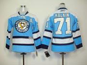 Youth Reebok NHL JERSEY PENGUINS #71 Malkin BLUE JERSEY