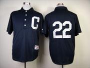Mens Mlb Cleveland Indians #22 Kipnis Blue 1902 Turn Back The Clock Jersey