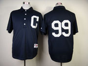 Mens mlb cleveland indians #99 vaughn blue 1902 turn back the clock Jersey