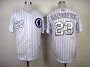 Mens mlb chicago cubs #23 sandberg white Jersey