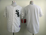 Mens mlb chicago white sox (blank) white (black stripe) Jersey