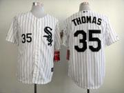 Mens mlb chicago white sox #35 thomas white (black stripe black name) Jersey