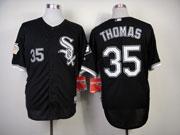 Mens mlb chicago white sox #35thomas black (75 year) Jersey